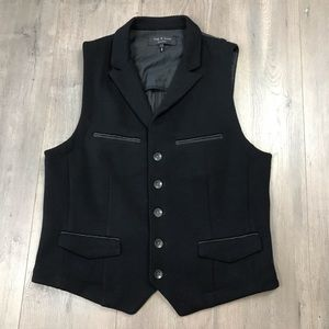 Rag & Bone Black Merino Wool Vest